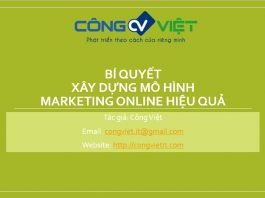 Bi quyet xay dung mo hinh marketing online hieu qua