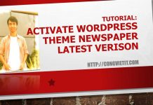 activate wordpress theme newww latest version
