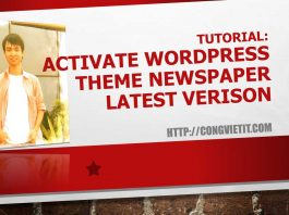 activate wordpress theme newww latest version
