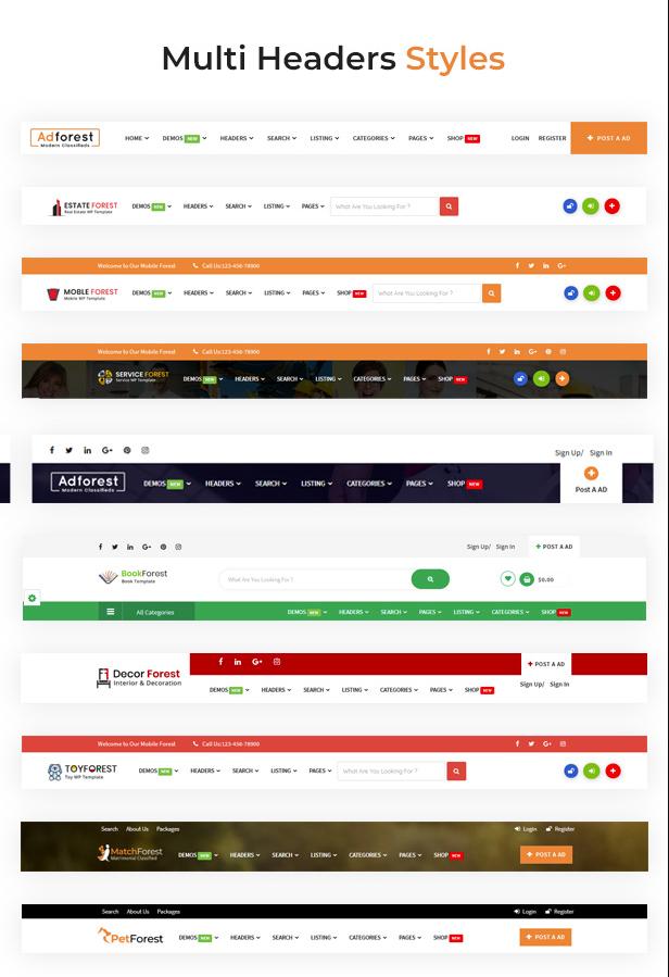 Phiên bản AdForest v4.2.8 – Theme WordPress về Quảng cáo, rao vặt