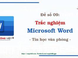 De so 09 - Trac nghiem microsoft Word - Tin hoc van phong - congvietit.com