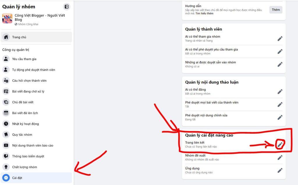 Hướng dẫn Liên kết nhiều Trang (Fanpage) Facebook với một Nhóm Group