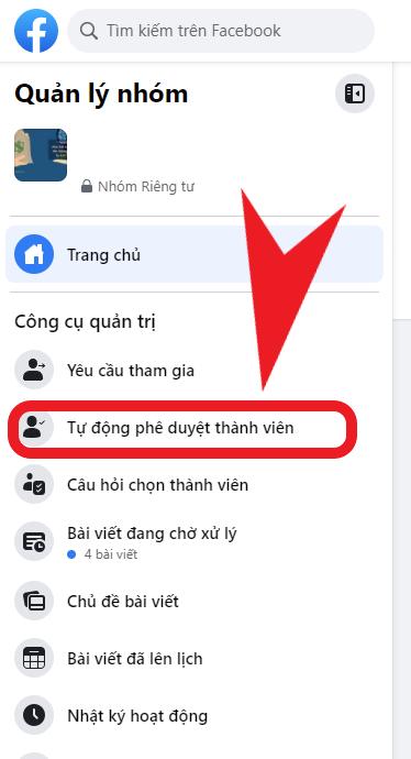 Hướng dẫn cài đặt để tự động phê duyệt thành viên tham gia Group Facebook 3
