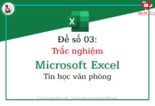 de so 03 - trac nghiem microsoft excel - tin hoc van phong - congvietit.com