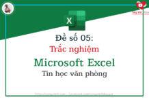 de so 05 - trac nghiem microsoft excel - tin hoc van phong - congvietit.com