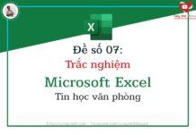 de so 07 - trac nghiem microsoft excel - tin hoc van phong - congvietit.com