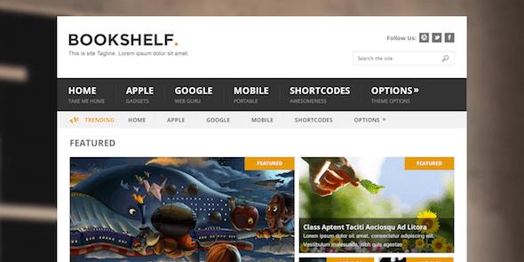 Bookshelf là một chủ đề blog WordPress