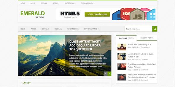 Emerald là một chủ đề WordPress tạp chí sáng sủa và mới mẻ