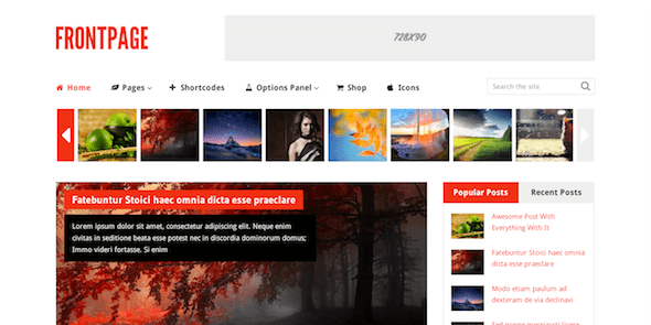 Theme FrontPage