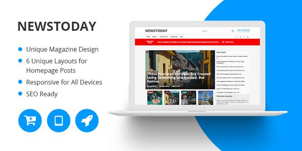 NewsToday là một chủ đề WordPress tạp chí đa năng trang