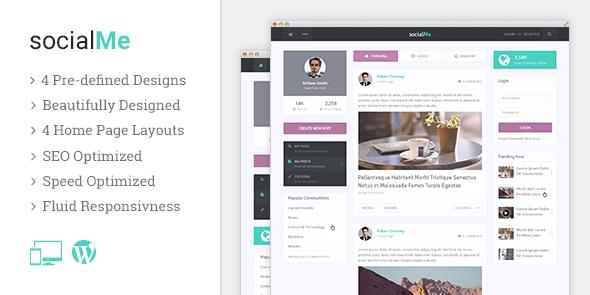 socialMe là một Chủ đề WordPress hiện đại và nhẹ