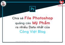 chia se file photoshop quang cao my pham ra nhieu data nhat cua congvietblog