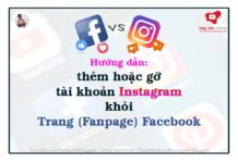 Thêm hoặc gỡ tài khoản Instagram khỏi Trang Facebook