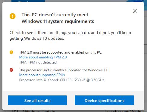 Danh sách bộ xử lý Intel (CPU) không được Windows 11 hỗ trợ
